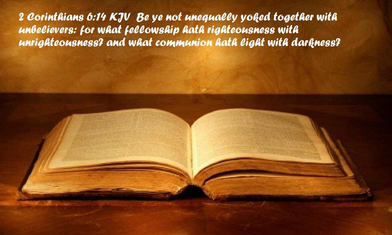 Being equally yoked verse