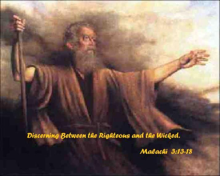 Malachi 3 v 13 to  18