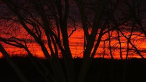 Red sunset Corliss township