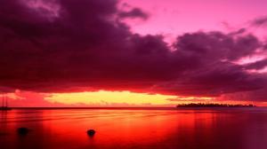red-sunset-landscape