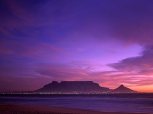 table mountain evening