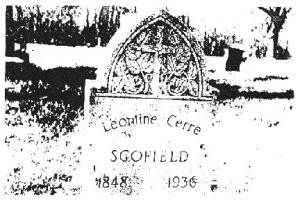 scofield wife grave