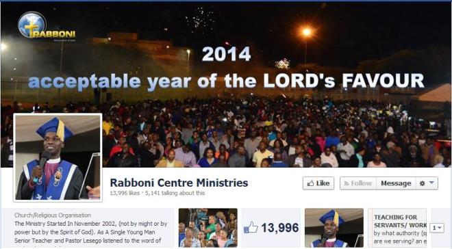 Rabboni Centre Ministries Facebook Page