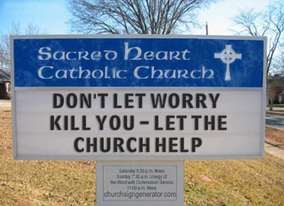 Blasphemous Church.Sign 1
